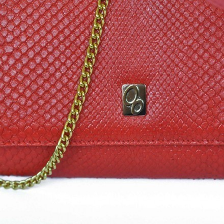 Genuine red python made in italy