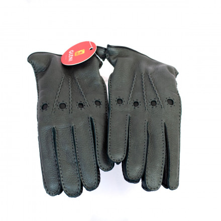 Men's gloves finished internally in cashmere