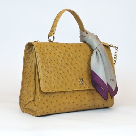 briefcase in ostrich by Gleni