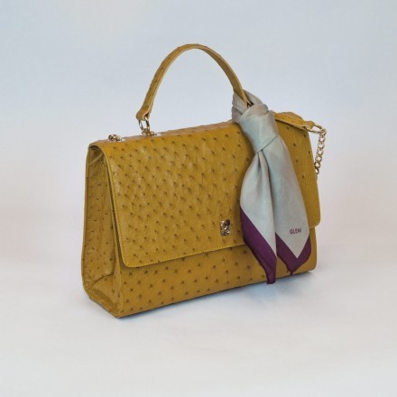hanbag in genuine ostrich by Gleni