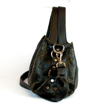 Irina soft bag in genuine anaconda leather