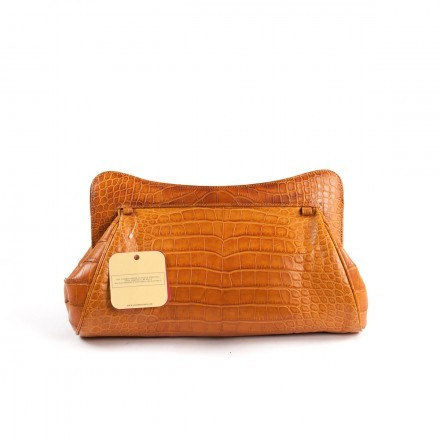 Genuine alligator pochette 100% Made in Italy by GLENI