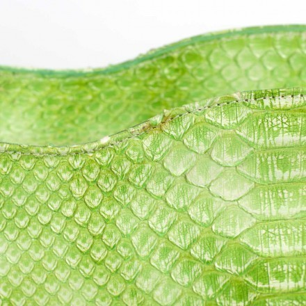 Details of the python leather of 4971 in Green Flash
