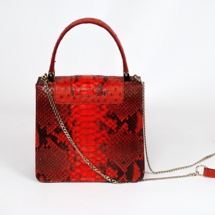 python and ostrich bag made in Italy