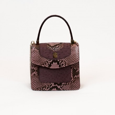 Lolita bag in Lavender python and ostrich