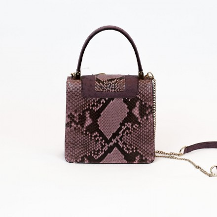 Mini bag in real ostrich leather GLENI