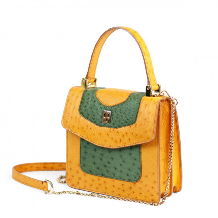 Green and yellow mini bag by GLENI
