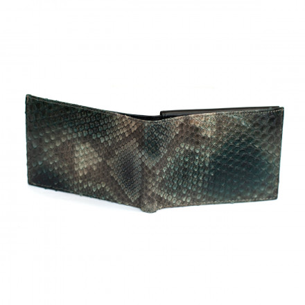 Wallet ACC/2100 in genuine front cut python