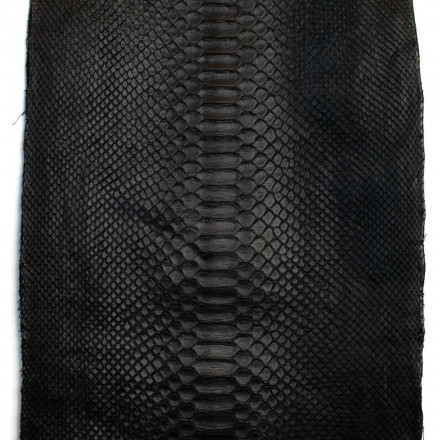 Matte black python leather to create your bag GLENI