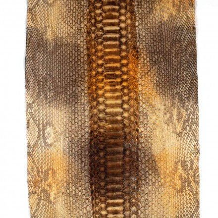 Caramel python leather GLENI