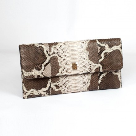 pochette in genuine python by Gleni