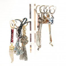 Keychains with rhinestones